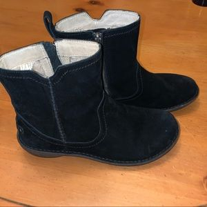 Uggh Black Suede Boots with Zipper-size 9